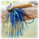 """Rapture Series"" Football Jig - Blue Chartreuse Craw"