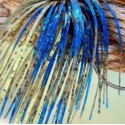 Custom Jig Skirt - Blue Chartreuse (2 Pack)